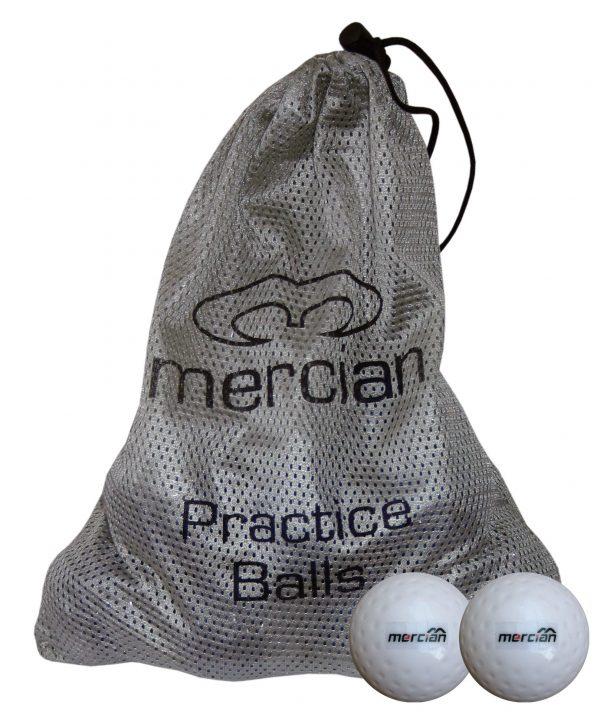 12 Smooth Mercian Practice Balls in a bag